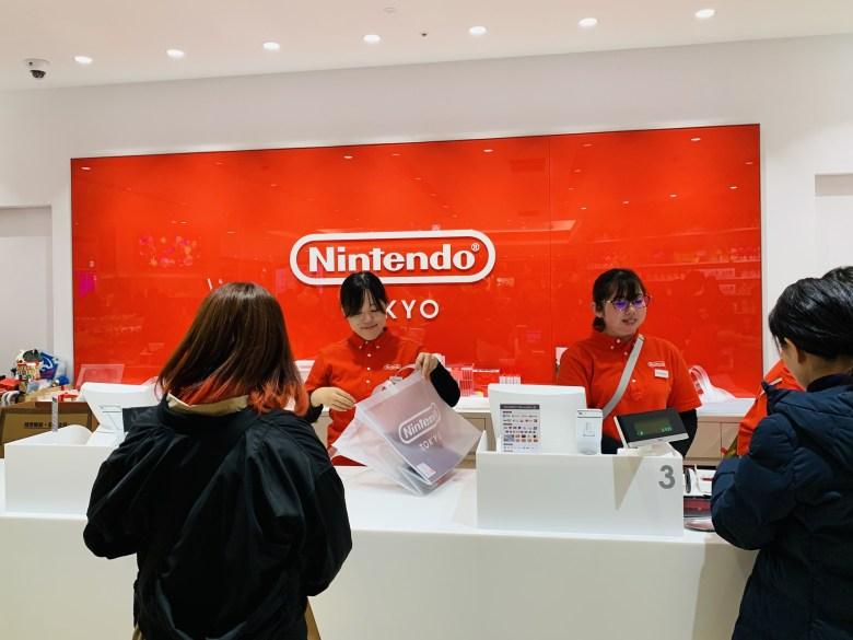 Nintendo Tokyo register, shop