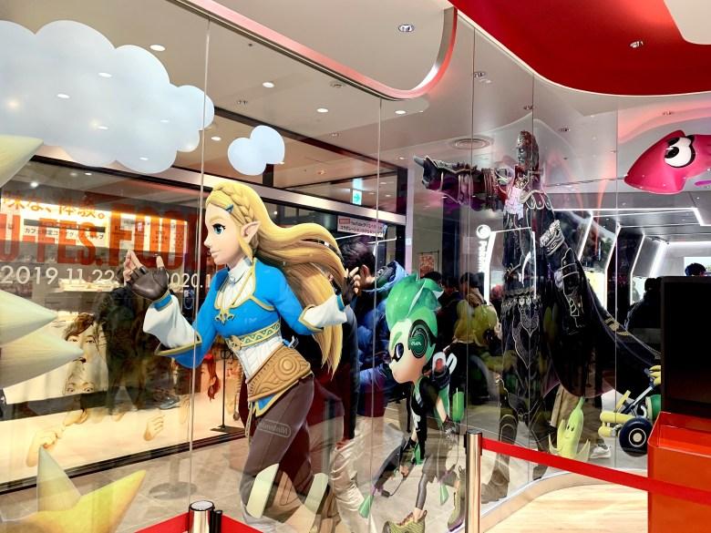 Zelda, Inkling en Nintendo Tokyo