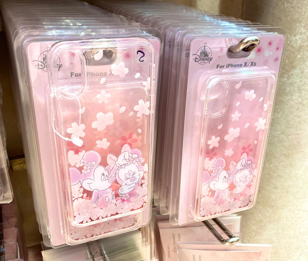 Sakura clear phone case, cherry blossoms with Minnie and Mickey